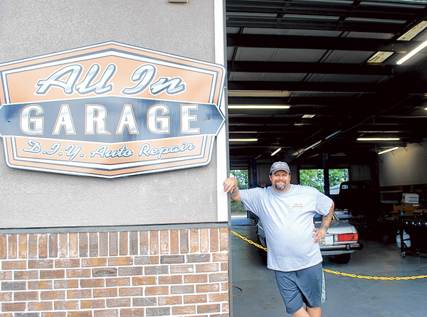 Customers are hands on at All In Garage in Hardeeville