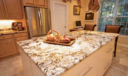Island style creates artful focal point in the kitchen