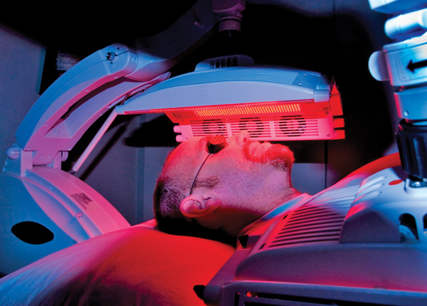 Photodynamic therapy: Sometimes blue lights are good
