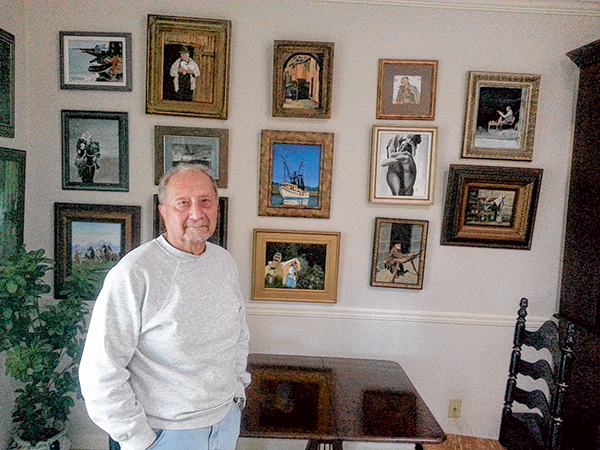 Local artist conscripted  by OSS at age 16 to make maps