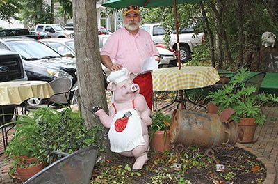 More than a yard ornament, Flossie the pig returns