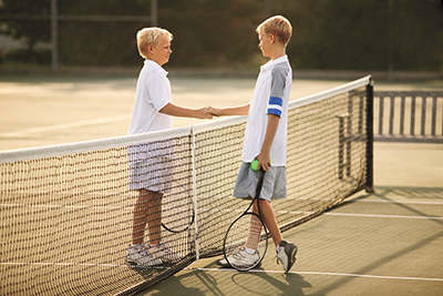 Kids involved in tennis can have advantage in classroom