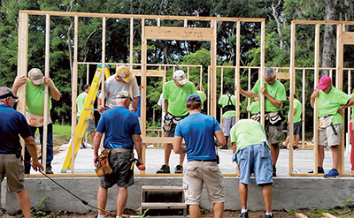 Construction well under way on Habitat's 100th house
