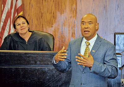 Vets treatment court's first graduate embraces fresh start