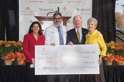 Million dollar gift kicks off capital campaign for cancer center