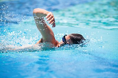 Proper breathing makes for more efficient swimming