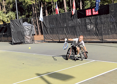 PTR Wheelchair Tennis attracts international players