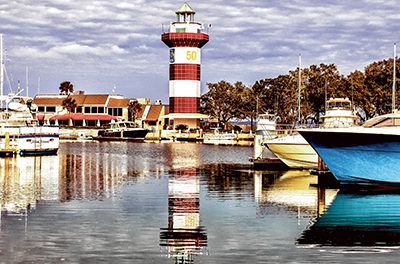 Harbour Town Lighthouse turns plaid to mark milestone