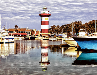 Harbour Town Lighthouse turns plaid to mark milestone