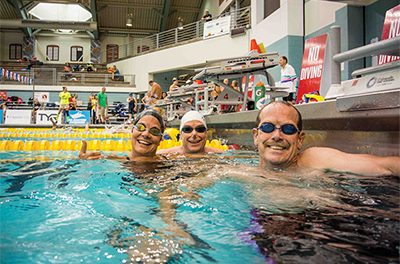 No matter age, size or shape, anyone can enjoy swimming