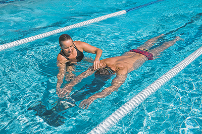 Swimming better different from swimming faster