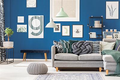 Interior décor colors stimulate senses to excite or calm