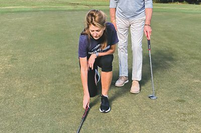 Drills and games are the best way to practice putting