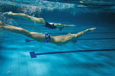 Employ naval engineering concept to swim more efficiently