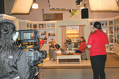 Unique collaboration immerses students in TV show production