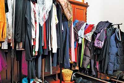 Start decluttering your life by downsizing your closet