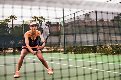 Keys to better tennis:  Keep your balance, be ready