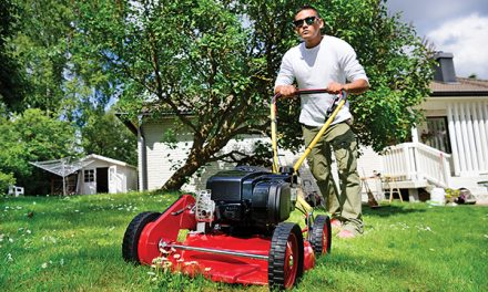 It might be hot out there, but yard chores still must be done