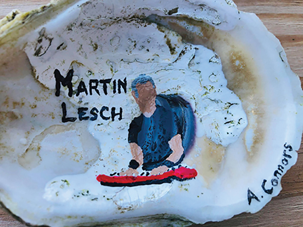 Local artist brings her  passions to life on oyster shells